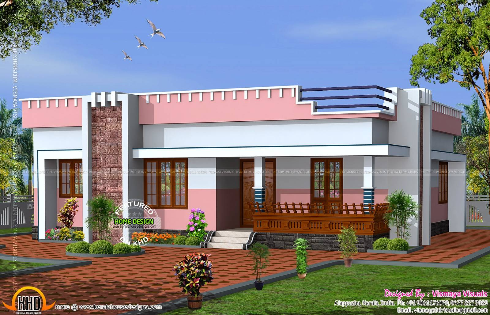 Simple Small Flat Roof Home Kerala Design Floor Plans Home Plans Blueprints 59392