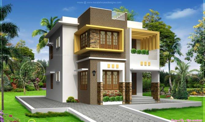Simple Small House Floor Plans India Double Storied Design