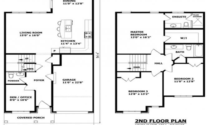 Simple Small House Floor Plans Two Story