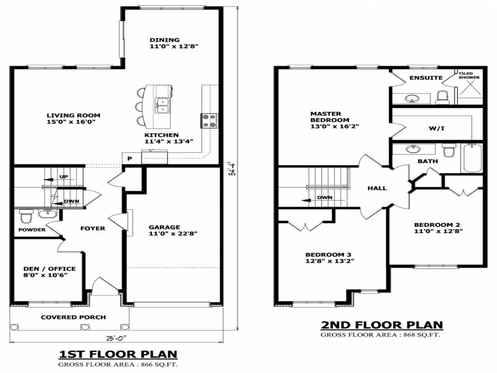Simple Small House Floor Plans Two Story - Home Plans ...