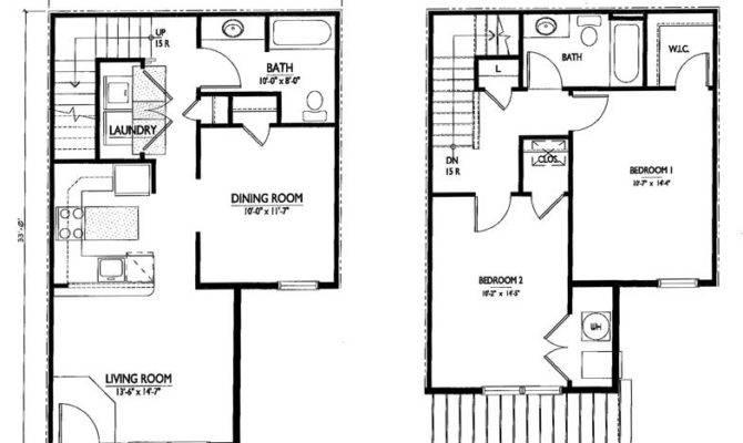 Simple Story Floor Plan Two Bedroom