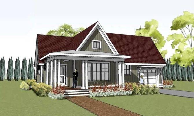 Simple Yet Unique Cottage House Plan Wrap Around Porch Hudson