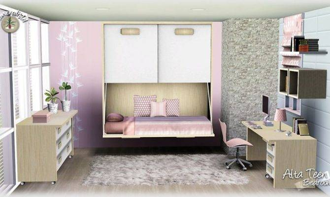 Sims Blog Alta Teen Bedroom Set Simcredible Designs Home Plans Blueprints 89952
