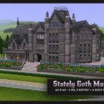 Sims Blog Stately Goth Manor Residential