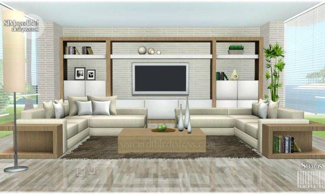 Sims Blog Suavis Living Set Simcredible Designs