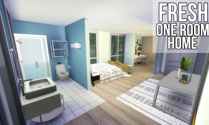 Sims Build One Room Home Youtube