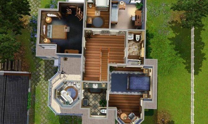 Sims House Blueprints Pinterest