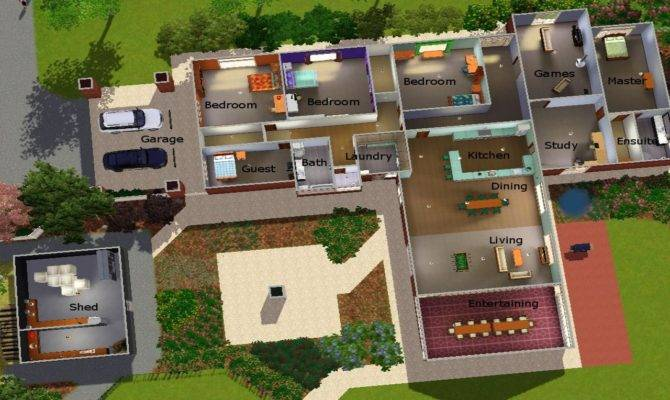 Sims House Plans Modern Cool Layouts