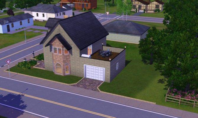 Sims Houses Monotone House Sunset Valley Remodel