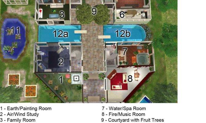Sims Mansion Blueprints Joy Studio Design Best
