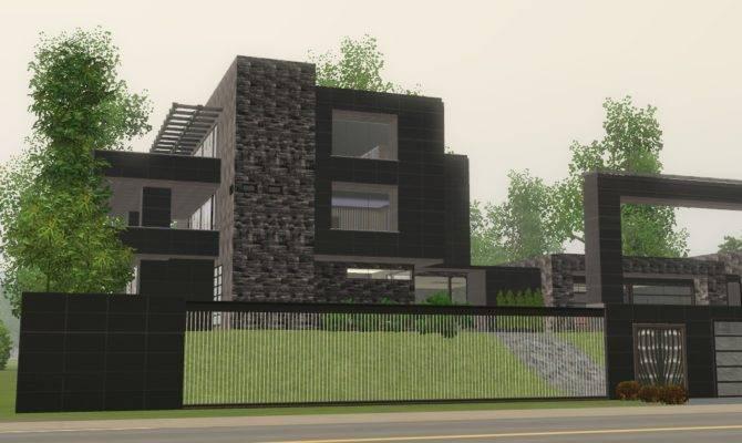 Sims Modern Black Mansion Ramborocky Deviantart