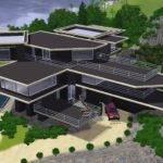 Sims Modern Grey Luxury Hillside Mansion Ramborocky
