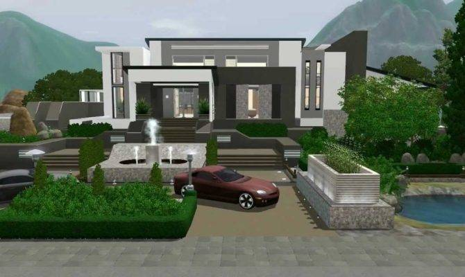 Sims Modern Mansion Custom Content Hidden