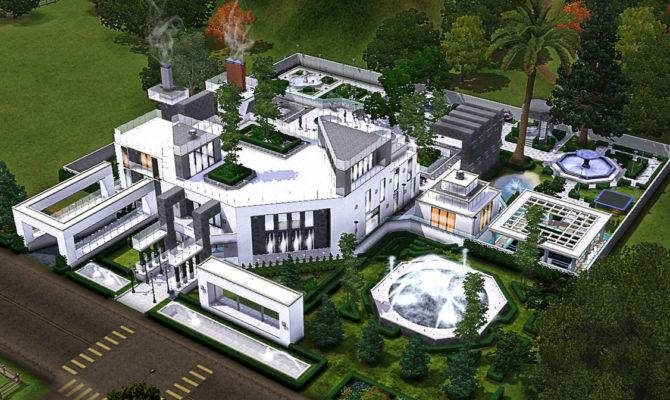 Sims Modern Minimallist Mansion Concept