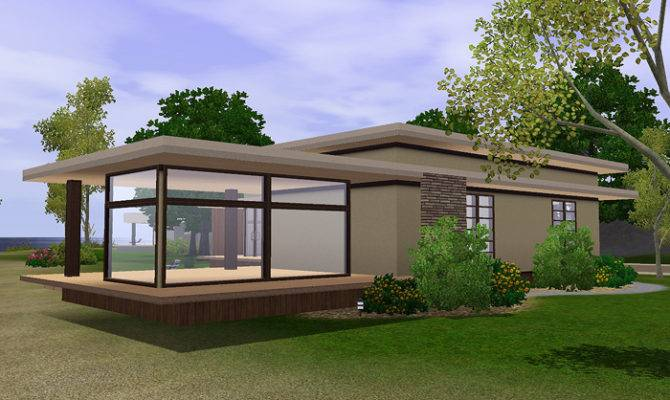 Sims Simple Modern House Blog Lana