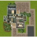 Sims Starter House Plans Floor Plan Exterior