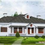 Single Floor Bedroom Victorian Style Villa Kerala Home Design