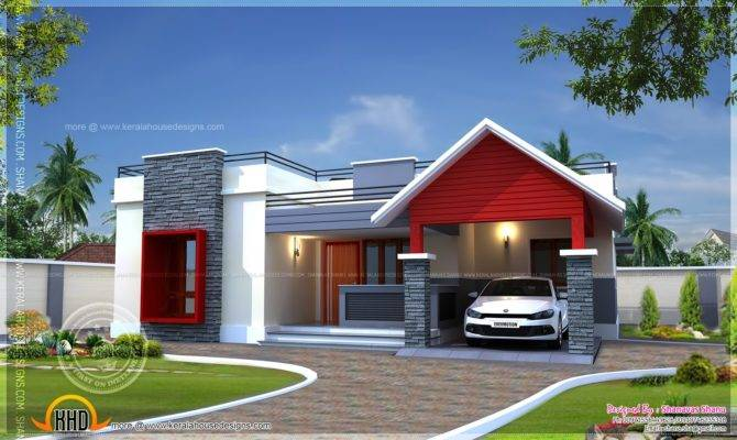 Single Floor Home Plan Square Feet Kerala Design