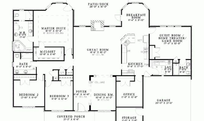 Single Story Bedroom House Plans One Bungalow