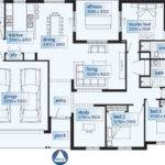 Single Story Contemporary House Plan Moreover Custom Home Plans
