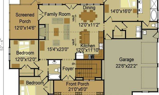 Single Story Craftsman Style House Plans New Two
