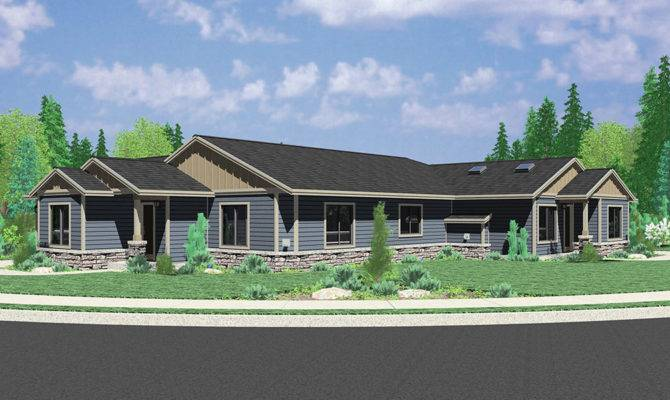 Single Story Duplex House Plan Corner Lot
