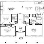 Single Story Farmhouse Floor Plans Stunning Two