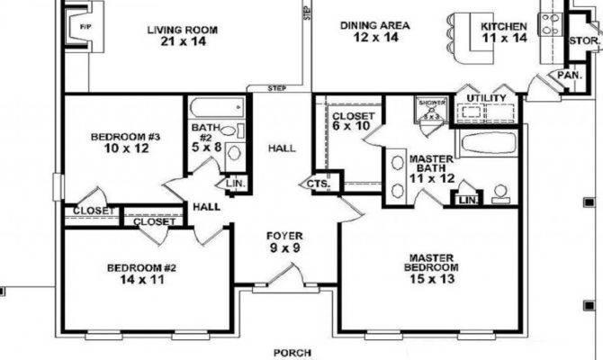 Single Story Farmhouse Floor Plans Stunning Two
