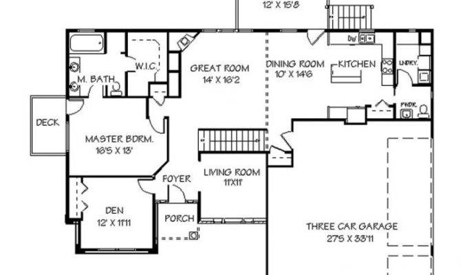 Single Story Home Plans Walkout Basement Archives