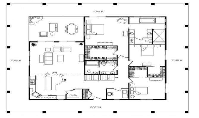 Single Story House Plans Large