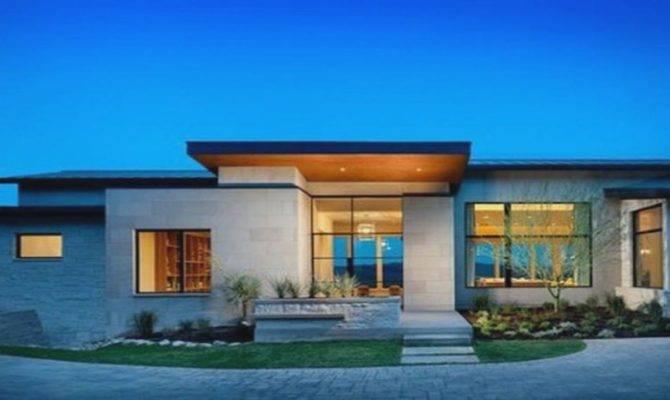 Single Story Modern House Plans Designs