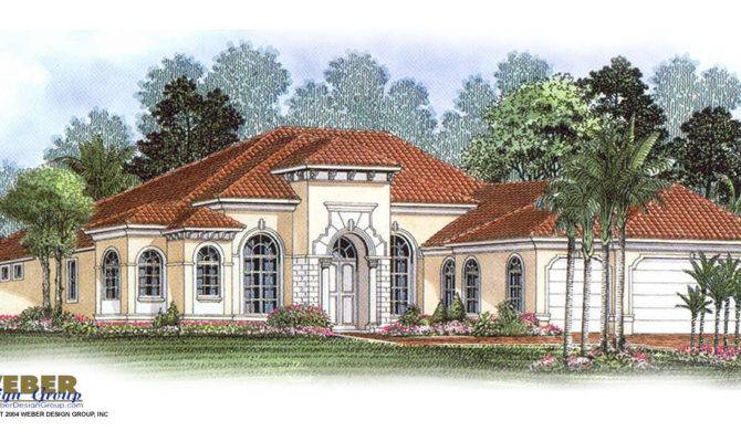Single Story Tuscan Style House Plans