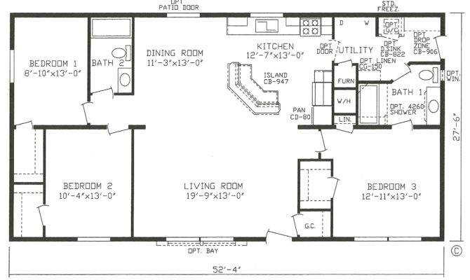 Single Wide Mobile Home Floor Plans Bedroom Stoney Brook