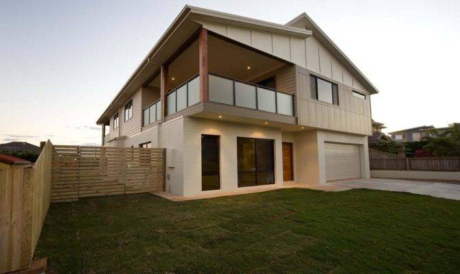 Skillion Rooftop Modern House Design Two Storey