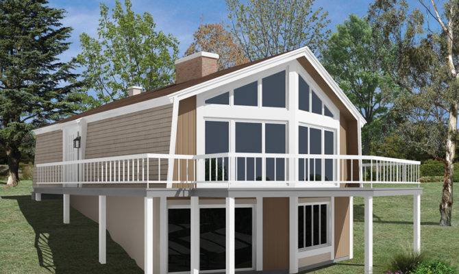 Skyliner Frame Vacation Home Plan House Plans More