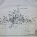 Sleeping Beauty Castle Front Elevation Blueprint Disneyland