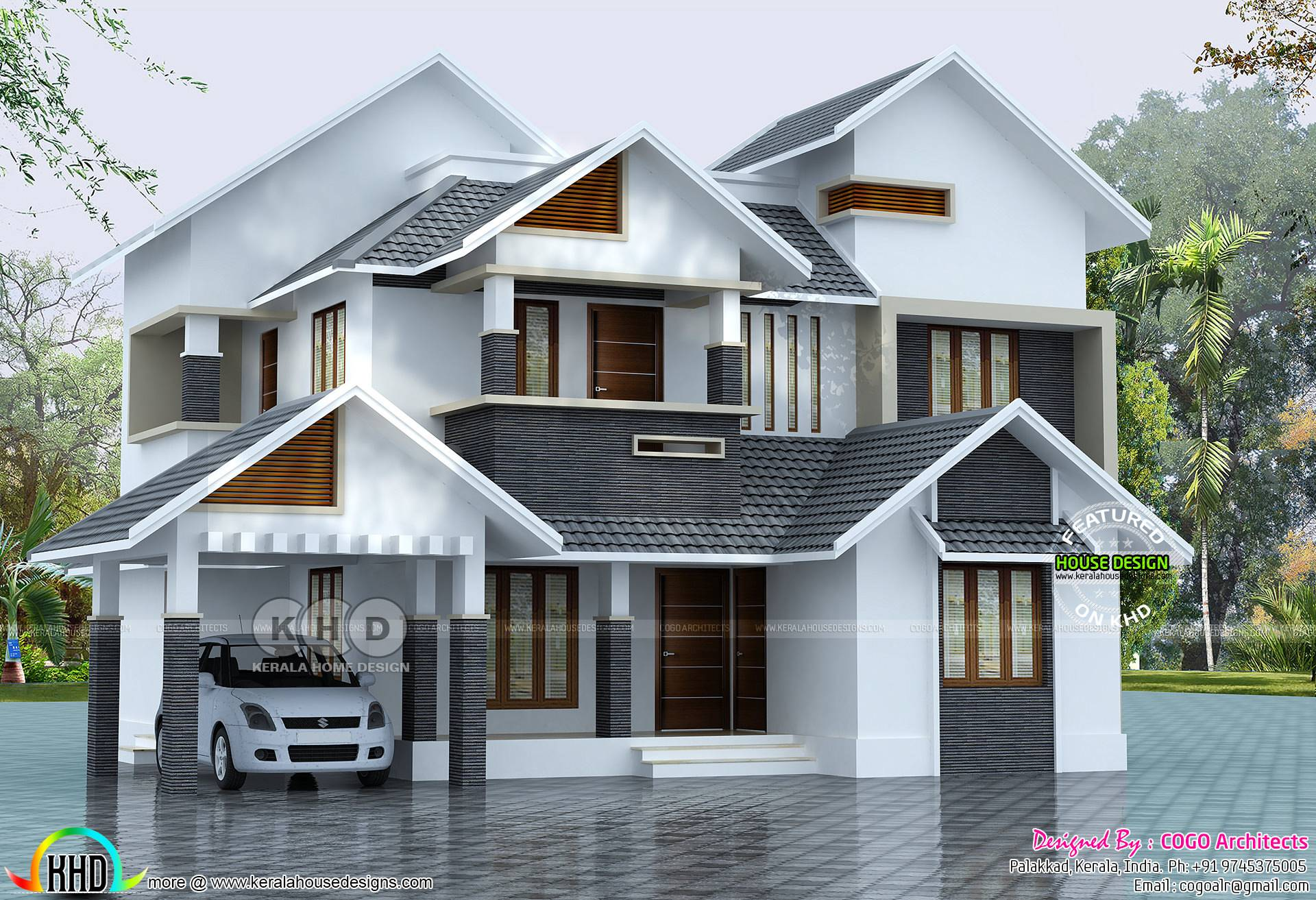 Sloped Roof House Plan Kerala Home Design Home Plans Blueprints 100701