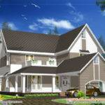 Sloping Roof House Design Square
