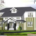 Sloping Roof House Elevation Kerala Home Design Floor Plans