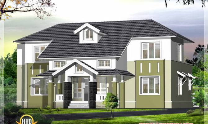 Sloping Roof House Elevation Kerala Home Design Floor Plans Home Plans Blueprints 90186