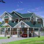Sloping Roof Modern Home Design Kerala Floor Plans