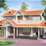 Slopping Style Tiles Roof House Feet Kerala
