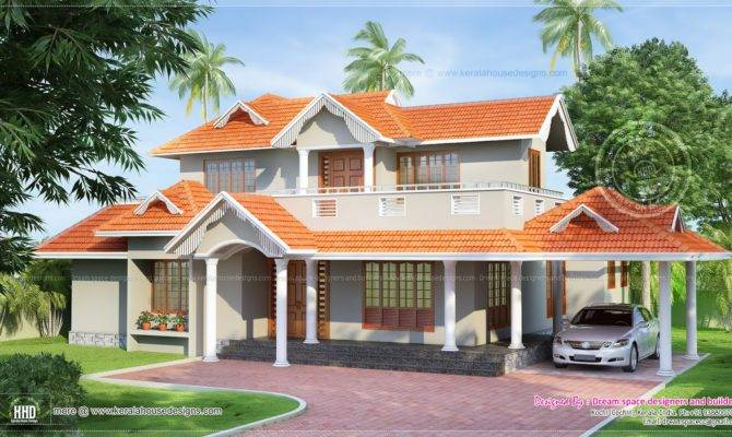Slopping Style Tiles Roof House Feet Kerala