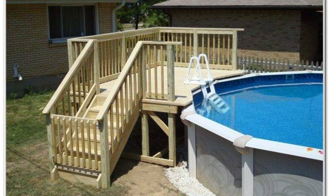 Small Above Ground Pool Deck Plans