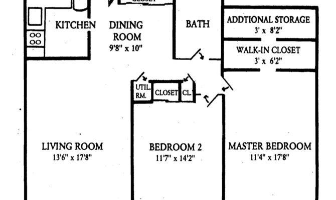 Small Bedroom Apartment Floor Plans Two