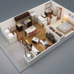Small Bedroom Apartment Floor Plans
