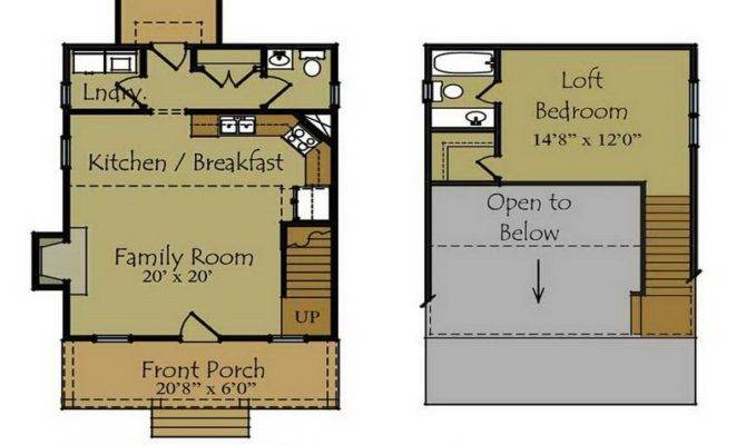 Small Cabin Floor Plans Guest