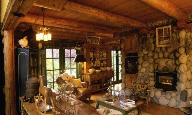 Small Cabin Furniture Rustic Interior Design