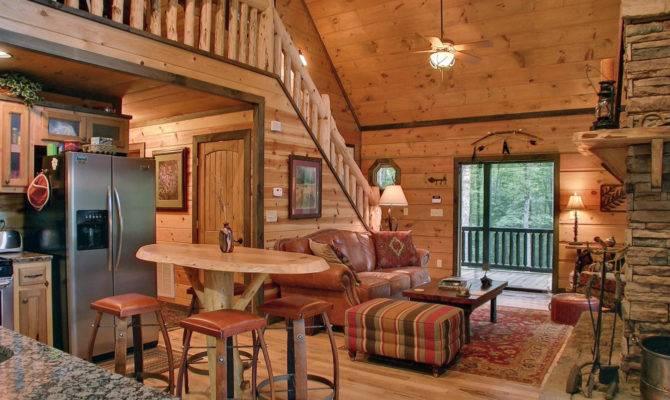 Small Cabin Interior Design Form Cozy Atmosphere