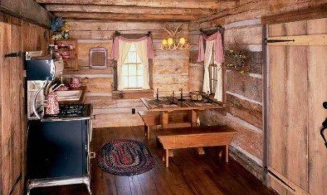 Small Cabin Kitchen Cabins Pinterest